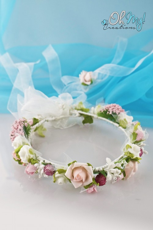 COLOUR FLOWER WREATH 506