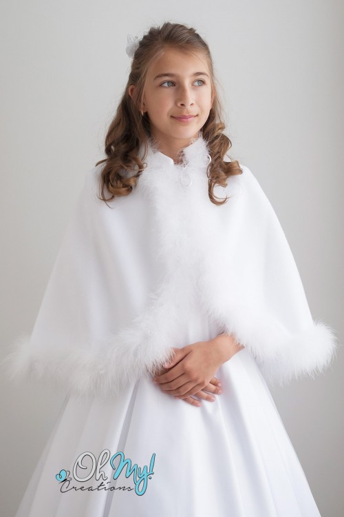 Marabou Edge Fleece Cape