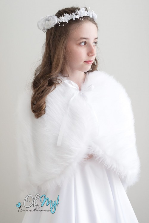 Long Hair Faux Fur Cape
