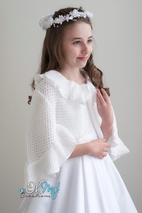 Frilled Edge Poncho