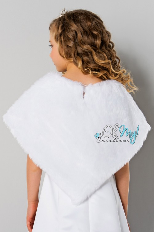 Assymetrical Faux Fur Cape