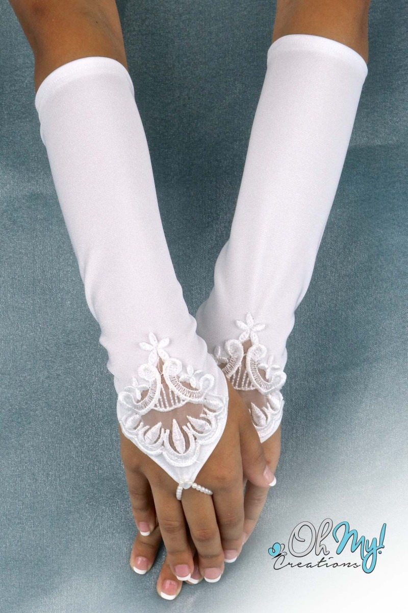 Long Gloves with Lace