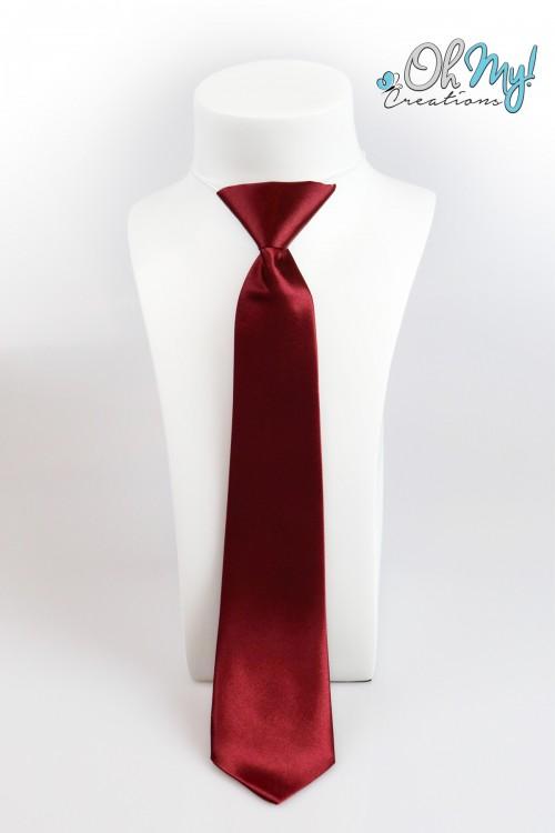 Boys Tie  - Burgundy