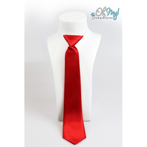 Boys Tie  - Red