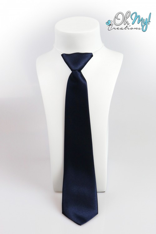 Boys Tie  - Dark Blue/Navy