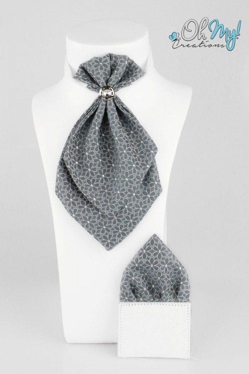 BOYS CRAVAT - GREY